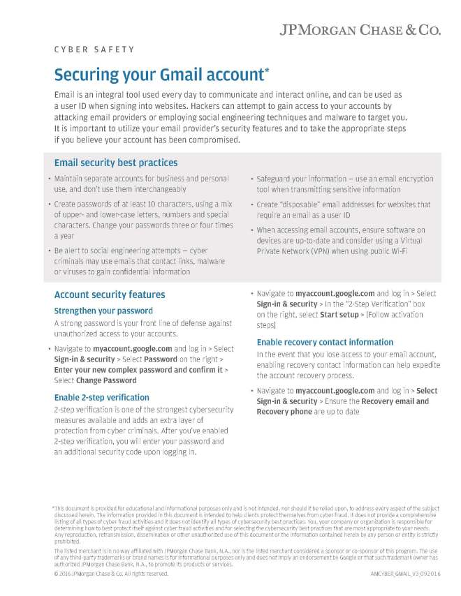 How to secure your Gmail email account – Mike's Market